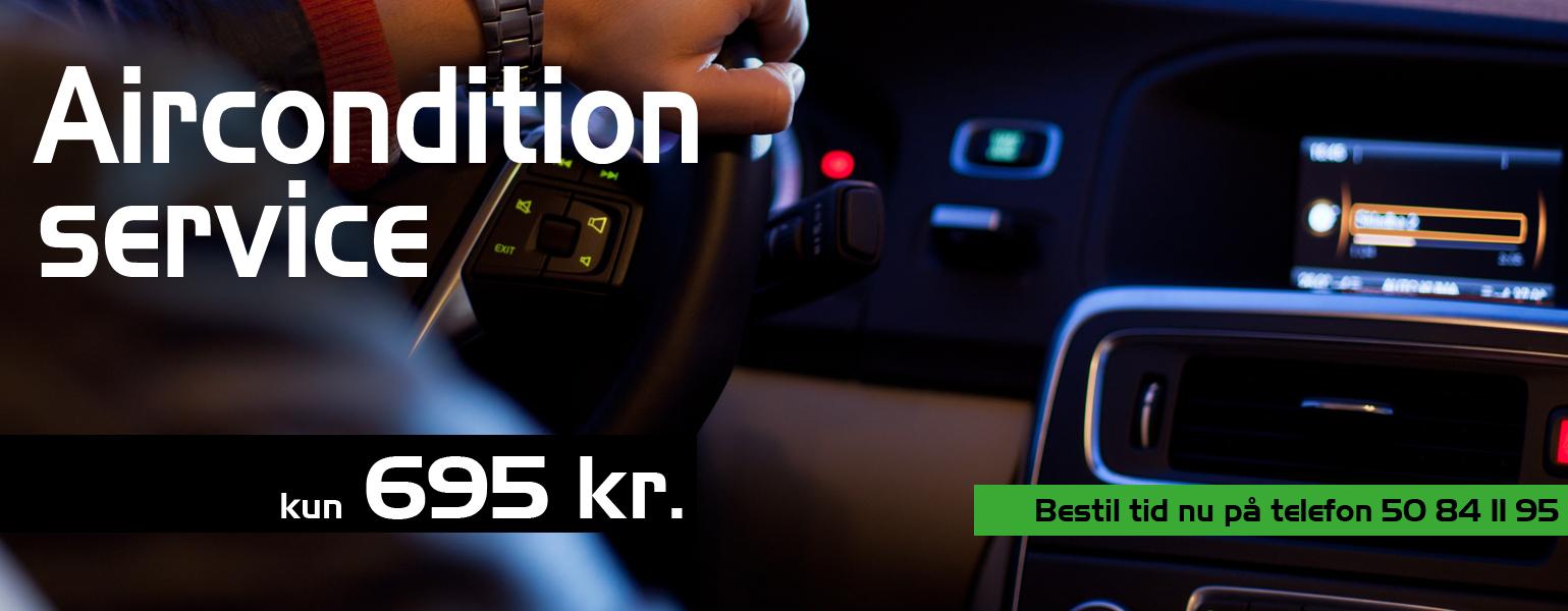 Aircondition service til 695 kr hos Bruhns biler