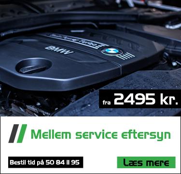 mellem service af din bil hos brunhs biler fra 2495 kr.