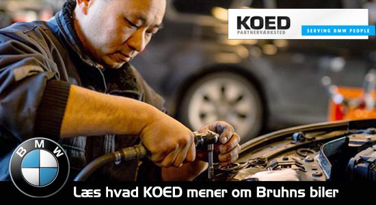 Hvad mener KOED om Bruhns Biler - BMW mekaniker