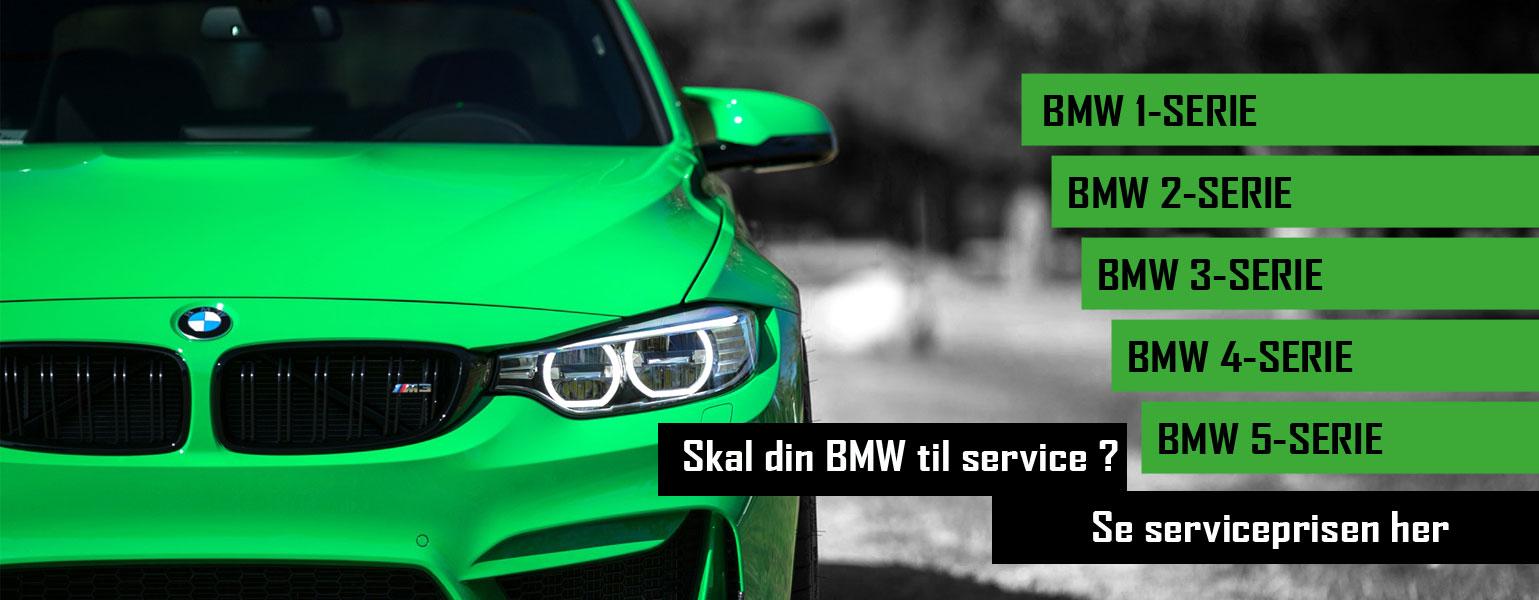 Skal din BMW til service ? Se prisen her