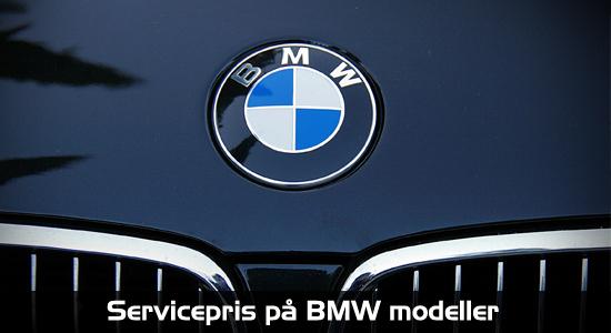 Servicepris på BMW modeller 1-2-3-4-5