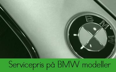 Servicepris for BMW modeller hos Bruhns Biler
