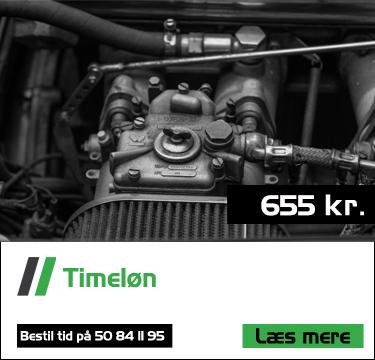 Timeløn hos Bruhns biler er 655