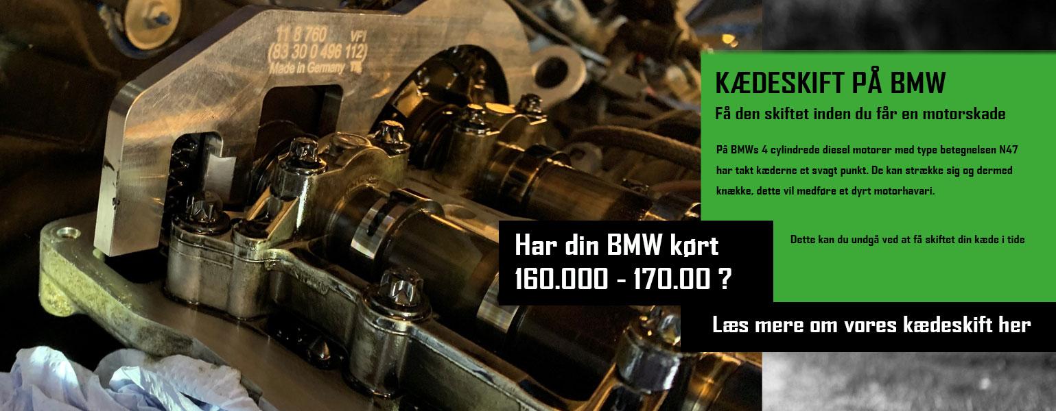 Kædeskift på din BMW - Bruhns biler