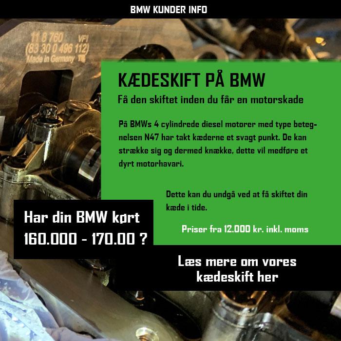 BMW kunde info - Kædeskift på din BMW