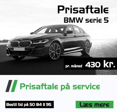 Prisaftale på service BMW serie 5 Bruhns biler